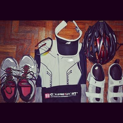 I'm ready for my 2nd duathlon race tomorrow. Lord, keep me safe tomorrow. I'll try to bring home the bacon! This is for you! ??? Duaman Duathlon Multisport NewBalance bell spyder compressport specialized sbrph
