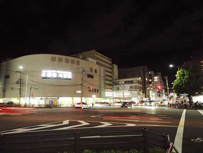 Kyoto Japan Sijyoomiya Hankyu Station Night City View  Olympus PEN-F 京都 日本 四条大宮 阪急 駅 夜