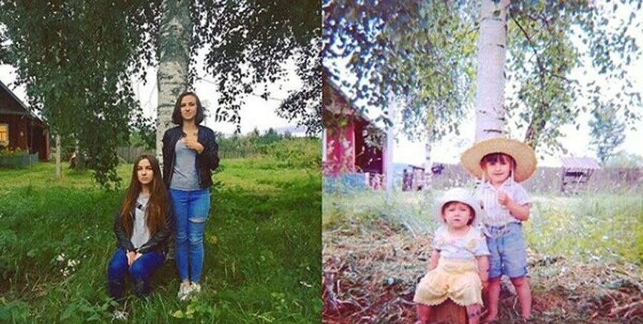 Разница в 15 лет😂😄👭💗⛅☔🏡 Togetherness Girls Fun Family Sister ❤ Sitting Lifestyles Summer Cotage Life Vacations Cotage Photo Saint Petersburg ThenNow Oldphoto 15years Moments Happiness Child First Eyeem Photo