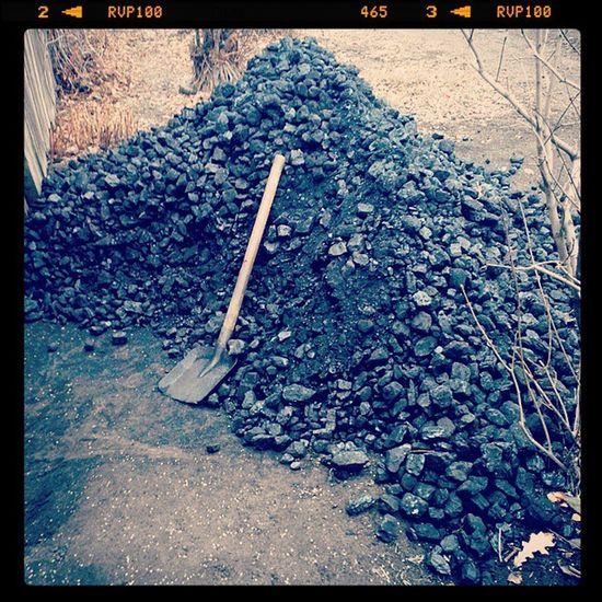омск осень уголь Autumn Omsk Coal