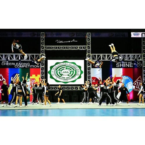 CSB Pep Squad Ncaa89 Csbpepsquad Benildepeppers Themanansala cheerleading competition