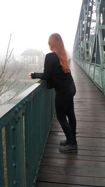 Orangehair Allinblack Gothicgirl GirlInBlack Drmartens Fog Me Nofilter Trees Oldhouse Its Me River Metalhead