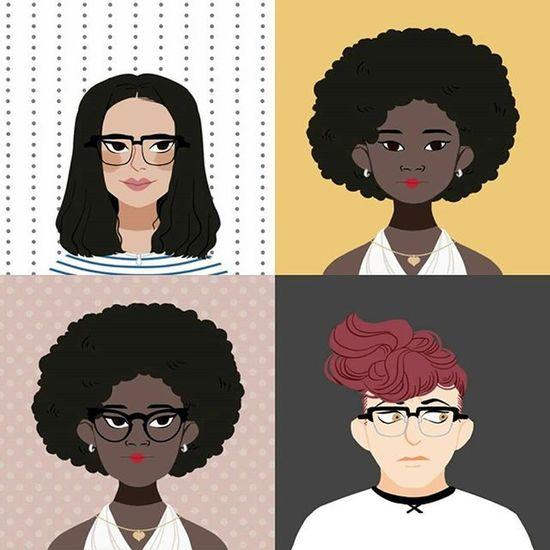 O quarteto no Doodleface <3