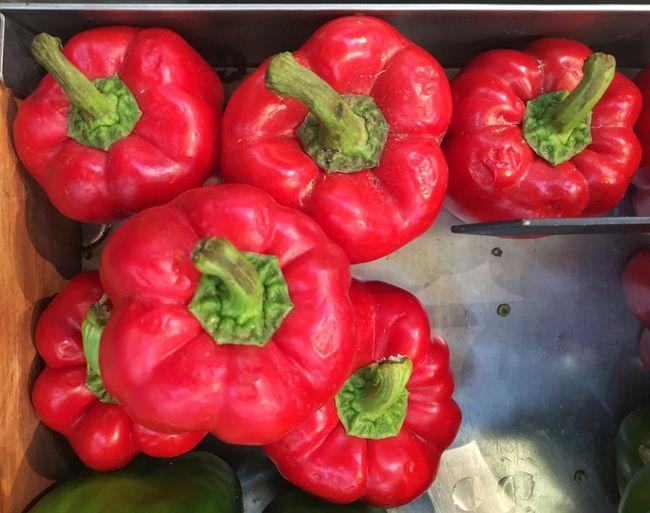 Red capsicums. Red Capsicum Capsicum Capsicum Pepper Capsicum Seeds Vegetables Market Vegan Peppers Chillies Spicy Food