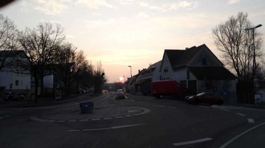 City Dusk Dusk Colours Early Bird Early Morning On The Move Road Round Sky Spherical Street Sun Sunlight Sunrise