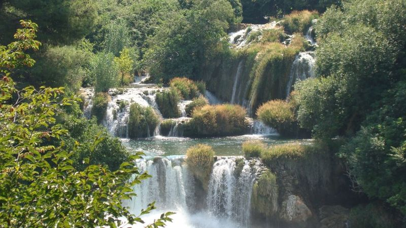 Croatia Krka Krka National Park Lake Nature Outdoors Water Waterfall