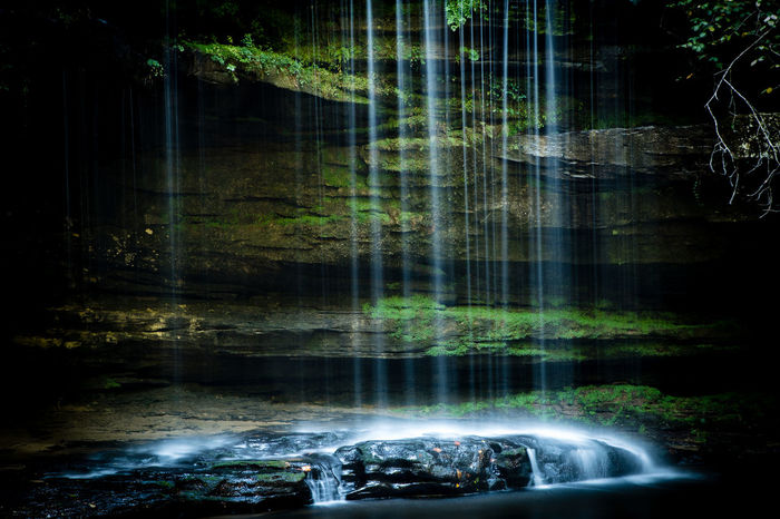 Caney Creek Falls, Alabama, USA Caney Creek Falls Beauty In Nature Blurred Motion Flowing Flowing Water Forest Land Long Exposure Motion Nature No People Outdoors Power In Nature Rainforest Reflection River Rock Rock - Object Scenics - Nature Solid Tranquility Tree Water Waterfall Waterfront