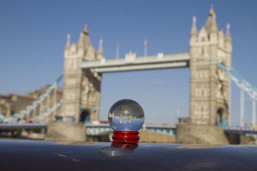 Central London Close-up Depth Of Field Enjoying Life Focus On Foreground Glass Sphere LONDON❤ No People Playing With Light Reflection Selective Focus Taking Photos Today Tower Bridge  Travel Travel Destinations Travel Photography Traveling Upside Down Upsidedown