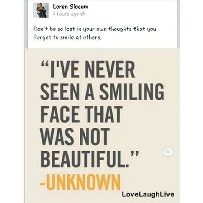 From a mentor of mine. Thanks for the reminder. Lorenslocum Smile SeanKnows
