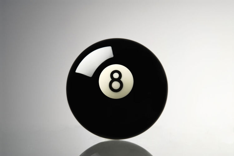 Eight ball Pool Ball Studio Shot Sport Ball Number Indoors  Sphere Close-up Geometric Shape Copy Space Circle Single Object Black Color No People Still Life Leisure Activity Shape