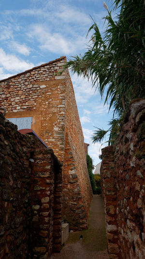 Architecture Architecture_collection TOWNSCAPE Cityscape Streetphotography Street Street Photography Alley Ocher Ocher Color Colorful Façade Old Town Built Structure Sky Building Exterior Nature Building Day No People Outdoors Wall History Tree The Past Low Angle View Cloud - Sky Brick Old Plant Stone Wall Brick Wall Palm Tree Ruined