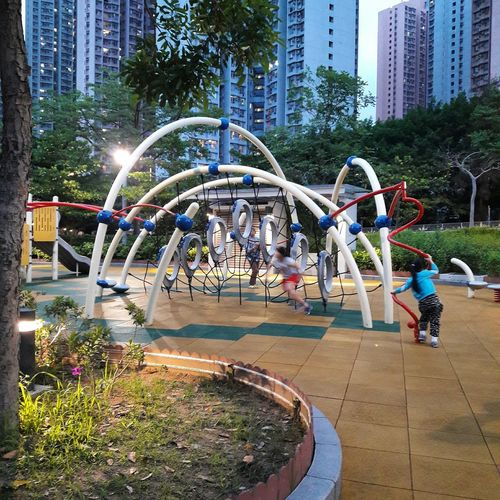 Playground Park - Man Made Space Childhood Outdoor Play Equipment Hang Hau