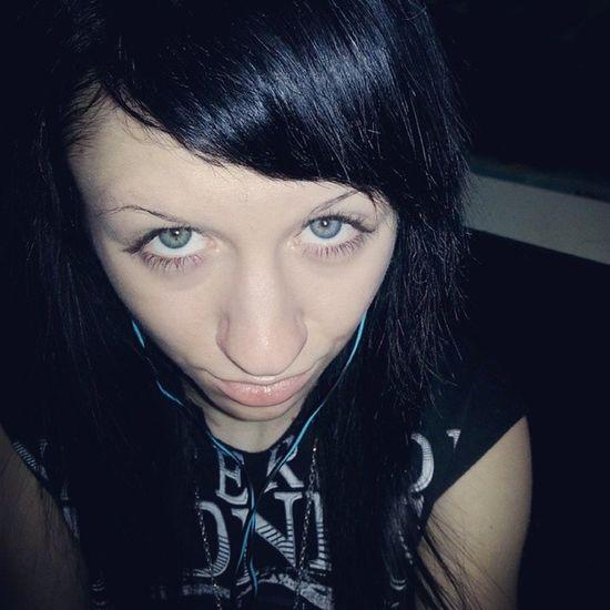 Listeningto Music Korn Blackhair blueeyes