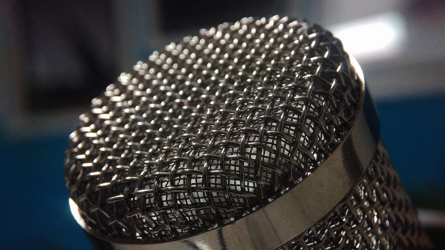 Microphone Electronic Mic Close-up Day Electronics  Focus On Foreground Indoors  Metal Metal Industry Microphone No People Pattern Rijall Rijall Blues Rijallblues Steel Steel Structure  Vocal Vocal Point