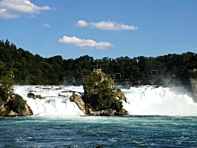 Biggest european waterfall Shauffausen Switzerland Waterfall Water