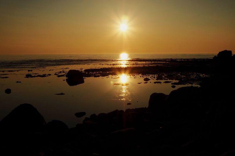 Embrace the warm. Sunset Sunset Silhouettes Beach Japan Hokkaido Shari-cho Utoro Goodday Sunny Day