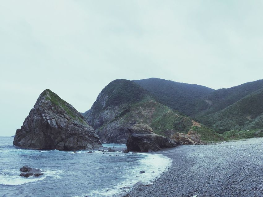 Nature Tranquility Tranquil Scene Scenics Sea Water Beauty In Nature Mountain Geology Outdoors Rock - Object Sky Day No People Beach Landscape Seashore in Amami Island Japan