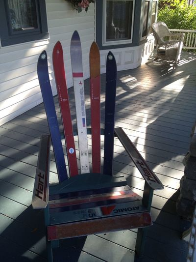 Chair made by Les from old skis Taking Photos Skiing Vermont