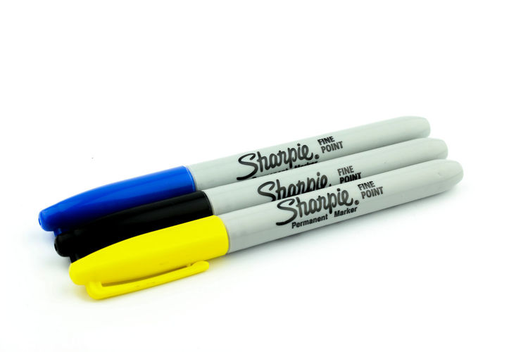 SHARPIE PEN ON WHITE BACKGROUND Black Close-up Color Colorful No People Sharpie Sharpie Art Sharpie Tattoo Sharpieart Studio Shot Text White Background Yellow