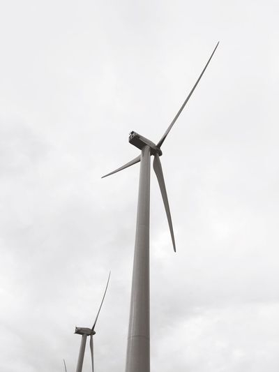 Wind Turbine Wind Power Alternative Energy Environmental Conservation Low Angle View Renewable Energy Fuel And Power Generation Windmill Industrial Windmill Technology Sky Day No People Outdoors