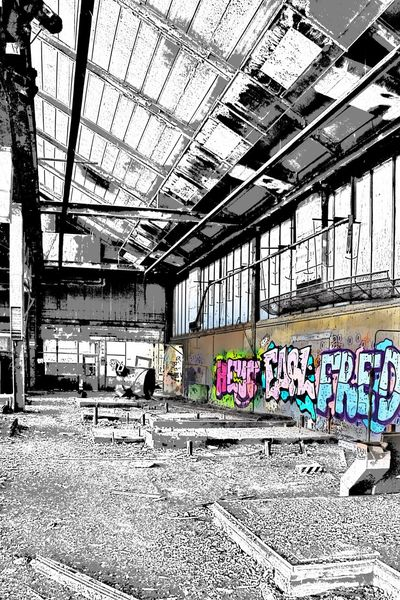 Landscapes With WhiteWall Lost Places Rotten Places Blackandwhite Graffiti