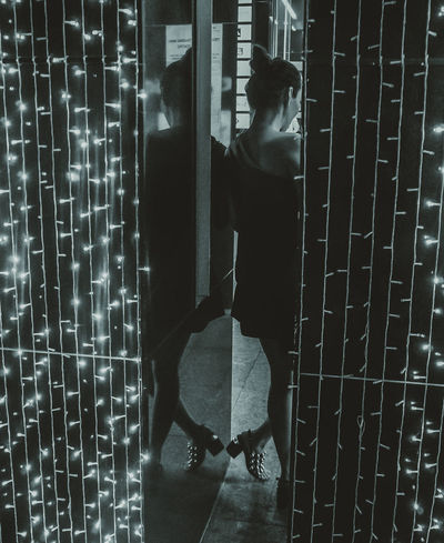 EyeEmNewHere Full Length Home Interior Illuminated Indoors  Lifestyles Night One Person People Real People Reflection Standing The Street Photographer - 2017 EyeEm Awards Young Adult