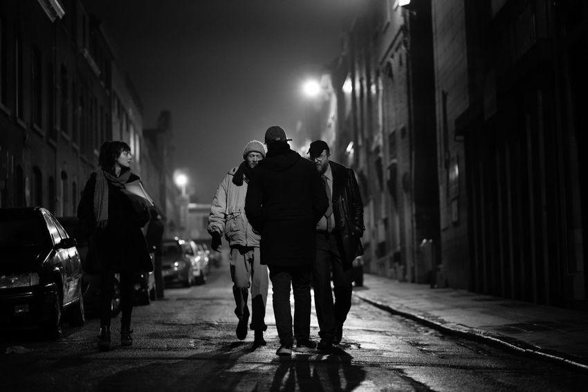 Rehearsal Film Rehearsal Belgium City Street Night Real People Walking Illuminated Men Group Of People Architecture Rear View People The Way Forward Direction City Life Adult
