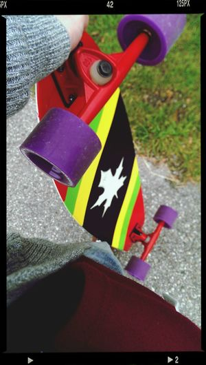 Now my Longboard <3 is new and im happy ?✌