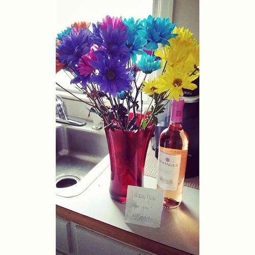 I have the best Sil! Nothing says get well like Flowers and Wine :)