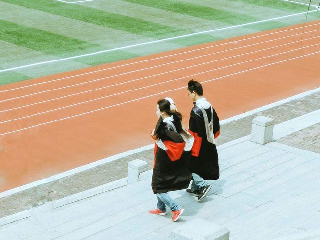 At University Stadium Graduation Graduation Season University