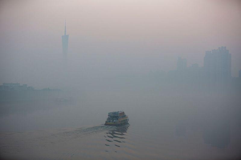 好心情(1) Fog Foggy Water No People Outdoors Nature Day Beauty In Nature Urban Skyline Nautical Vessel Sky Sea Architecture Cityscape