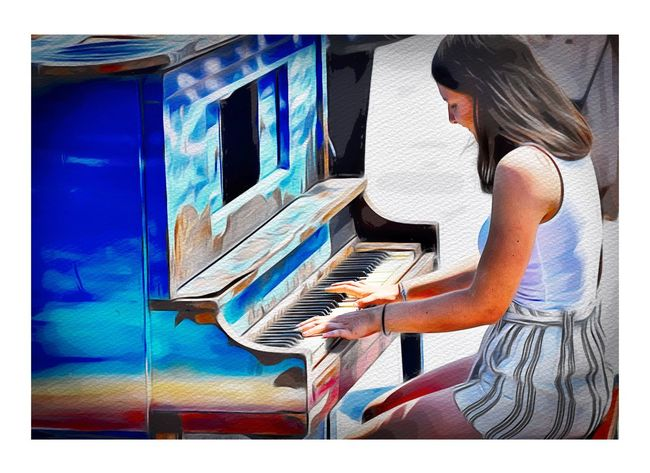 One Person Transfer Print Music Musical Instrument Musical Equipment Arts Culture And Entertainment Piano Piano Key