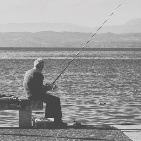 der alte mann und das meer... The Storyteller - 2014 Eyeem Awards Lago Di Garda Fishing Sea