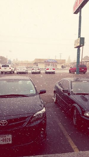 yesterday it was nice...now there is a blizzard....in Texas