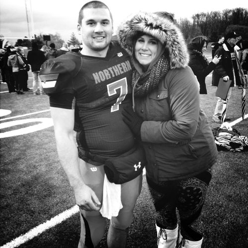 Last home game ever. So proud of my little brother!