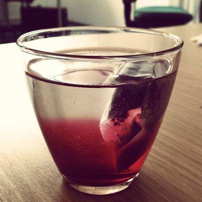 Tee Tea Erdbeertee Teebeutel
