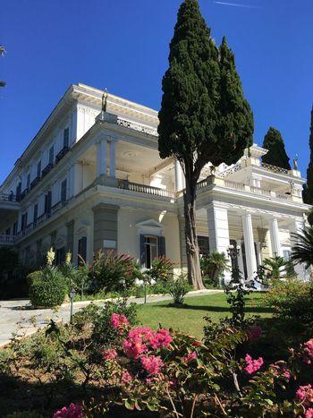 Achilleon Famous Place Castle Architecture Built Structure Building Exterior Corfu, Greece Palace Achillion