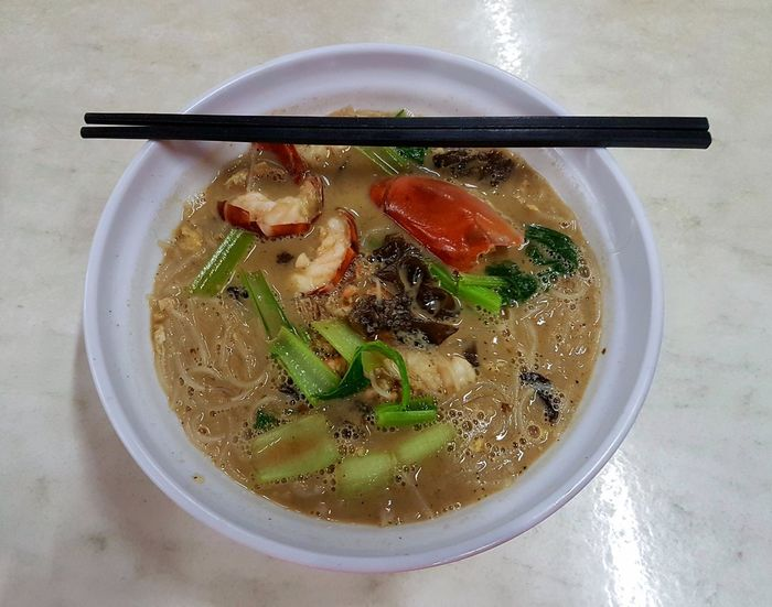 Prawn noodles ! Yummm... Mee Udang Sibu Malaysia Truly Asia Amazing Destination Travel Borneo Tropical Living Food Food And Drink Healthy Eating Wellbeing Freshness Bowl Indoors  Ready-to-eat Soup High Angle View Asian Food No People