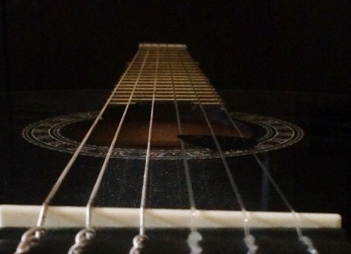 TakeoverMusic Musical Instrument Guitar Musical Instrument String Arts Culture And Entertainment Music Musical Equipment Fretboard Acoustic Guitar No People Close-up Woodwind Instrument Black Background Indoors  Day Endlessmusic Lovemusic Playguitar Playguitar And Sing