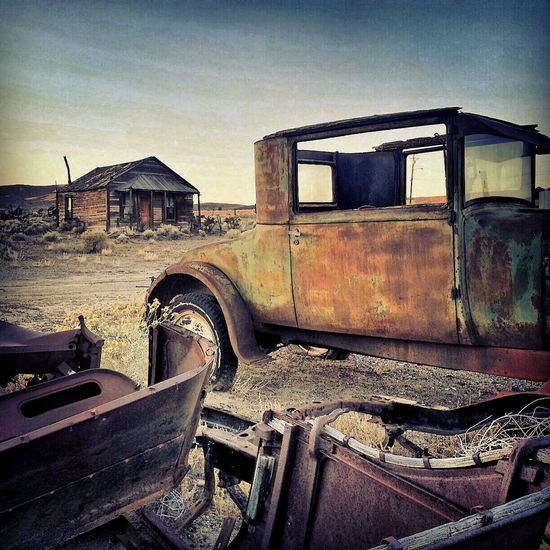 Time and Patina Abandoned No People Old-fashioned President Trump Promised Land Travel Photography Marketing Travel Nevada Ghost Town Nostsalgic Old Car Dirt Road Old West  Rusted Metal  Broken Designer  Sand Old Truck Old Wood Transportation Rust Nostalgic Photo Ghosttowns Travel Destinations Nevada Mountains