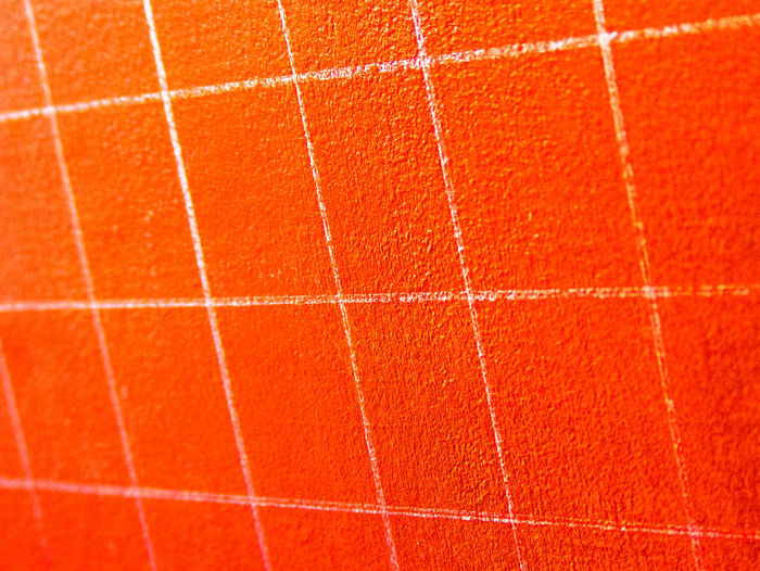 Art View Backgrounds Blackboard School Checkered Board Checkered Pattern Close-up Colorful Full Frame Geometric Shape Orange Orange Color Pattern Perspective And Dimensions  Perspective Lines Perspective View Shapes And Patterns  Colors and patterns Tile Vibrant Color Texturestyles Wall - Building Feature White And Orange White Lines White Lines White On Orange