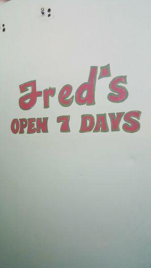 Drinks Dodgy  Door Words Fred