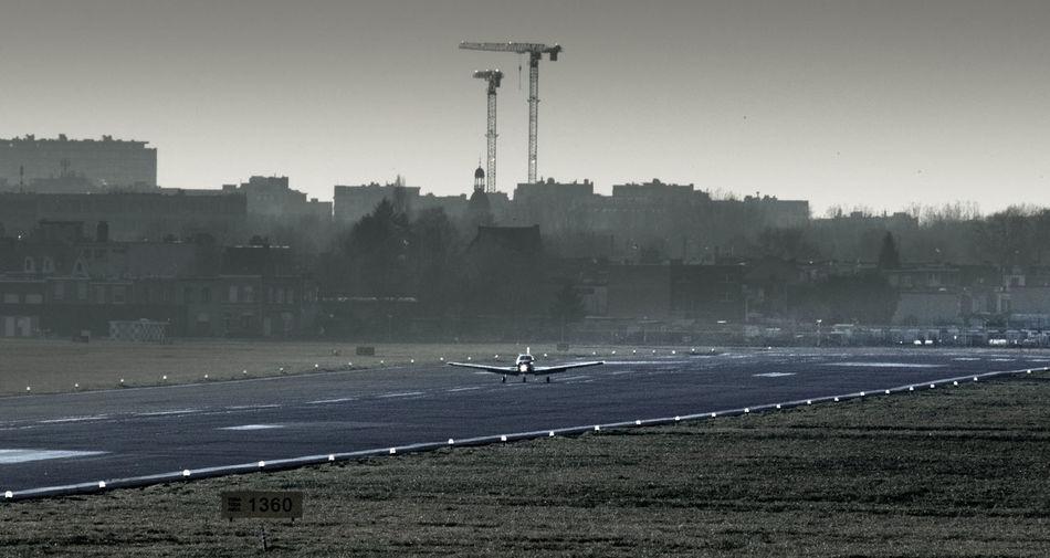 Aircraft Airplane Airport Antwerp Airport Antwerpen Mode Of Transport Outdoors Sky Transportation