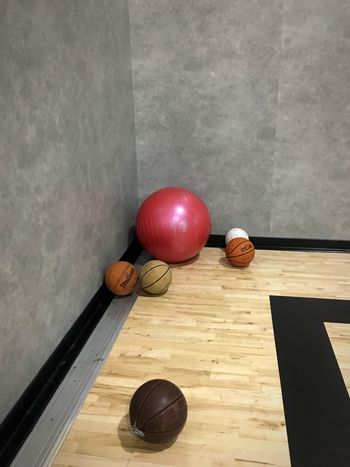 It's all a game Gym Workout Gymnasium Basketball Table Ball Sport Sphere Still Life Indoors  Wood - Material No People Flooring Sports Equipment Healthy Lifestyle Equipment Leisure Activity