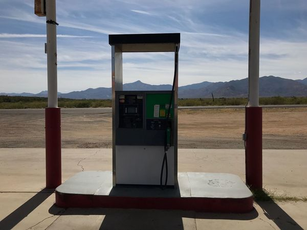 Rethink Things Gas Station Fuel Pump Gasoline Sky Refueling Mountain Transportation Day Fuel And Power Generation No People Mountain Range Nature Landscape Pay Phone Outdoors