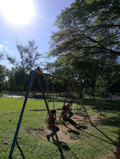 Prince Philip Park, Kota Kinabalu will soon be gone.. Tanjungarubeach Kotakinabalu Beachfront Tree Playground Park - Man Made Space Outdoors Childhood Sky Outdoor Play Equipment Slide - Play Equipment Nature Grass Kids Being Kids No People Day