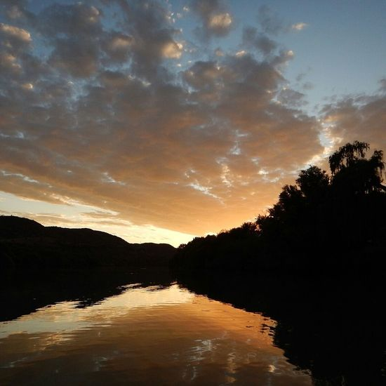 Sunset Dramatic Sky Reflection Cloud - Sky Water Outdoors Tranquility Nature Orange River SouthAfrican