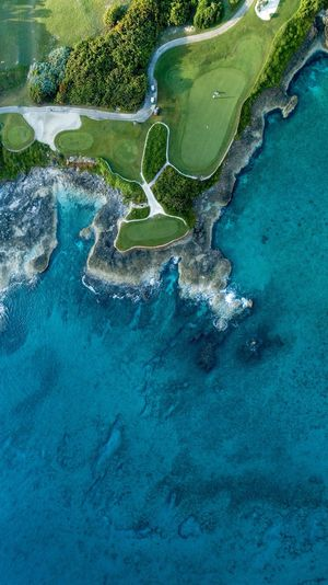 Ocean Tee shot Exuma Dronephotography DJI X Eyeem Luxurylifestyle  Oceanography Aerial View Aerial Bahamas Bahamas Golf Golf Course Water Sea Nature No People Beauty In Nature Underwater Scenics - Nature Aerial View High Angle View Outdoors Travel Destinations Green Color Sport Blue Land Day Reef