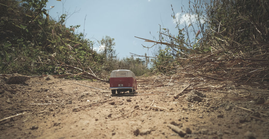 A long trip Close-up Day Little Things Mini Minibus Minimalism Nature No People Outdoors Sky Toyphotography Tree