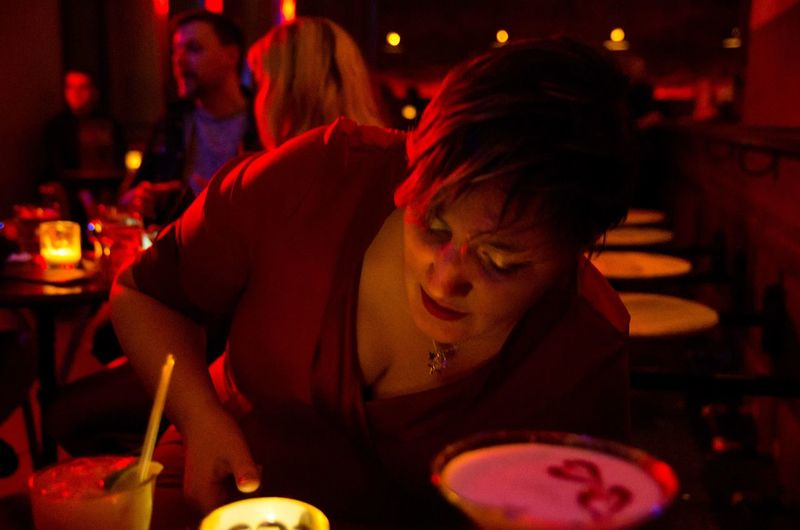 Some pretty pics of my friend Debs on a girl's night out. Candles Close-up Girl Glasgow  Indoors  Night Night Out People Portrait Of A Woman Pub Punk Red Riding Room Scotland Scottish Short Hair Woa Woman